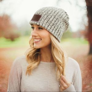 Love Your Melon Beanie Slouchy Black Speckled Cozy